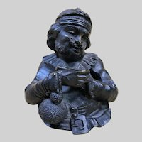 Antique Bronze GIROUX Figural Inkwell