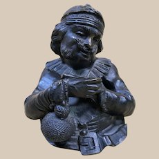Antique Bronze GIROUX Figural Inkwell