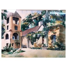 Lovely Vintage Watercolor by E. J. Cooper Dated 1973 #2