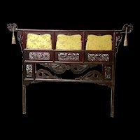 Antique Japanese Kimono Rack Headboard