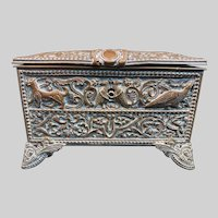 Charming Antique French TAHAN Copper Box