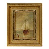 Movie Star Owned - Ralph Albert Blakelock (NY/CA, 1847-1919) Oil Painting, PROVENANCE