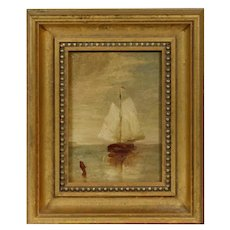 Movie Star Owned - Ralph Albert Blakelock (NY/CA, 1847-1919) Oil Painting, PROVENANCE