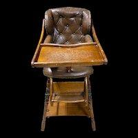 Antique Convertible Scottish High Chair