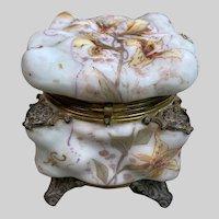 Stunning Large Wavecrest C.F. Monroe Egg Crate Mold Hinged Box