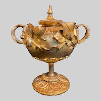 Very Rare Alphonse GIROUX Ormolu & Gilt Covered Candy Dish c1860