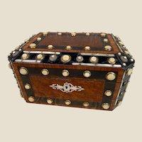 Rare LARGE Antique Amboyna Burl Wood Box by Alphonse GIROUX