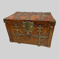 Exlarge c1690 Kingwood And Brass Mounted Strong Box or Coffre-Fort