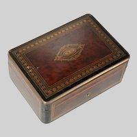 Antique c1875 TAHAN Napoleon III Inlaid Table Box