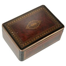 Antique c1875 TAHAN Napoleon III Inlaid Table Box