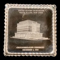 Vintage White Plains NY Commemorative Glass Box