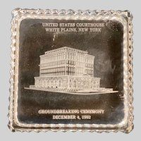 Vintage White Plains NY Commemorative Glass Box