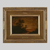 "Classic Antique Ralph Albert Blakelock (NY/CA, 1847-1919) ""Twighlight"" Oil Painting, PROVENANCE"