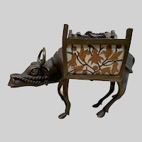 Magnificent Rare Alphonse GIROUX & Ferdinand Duvinage Ormolu and Marquetry  Water buffalo Desk Tidy