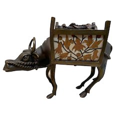 Magnificent Rare Alphonse GIROUX & Ferdinand Duvinage Ormolu and Marquetry  Water buffalo Desk Tidy