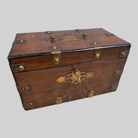 Superb Large  Antique French TAHAN Box with Insert for Cigars