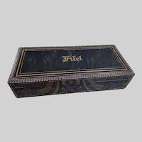Wonderful Antique French VERVELLE Ebony Box