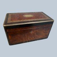 Antique SORMANI Inlaid Burl and Bronze Table Box
