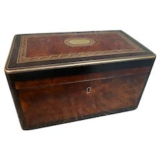 Antique SORMANI Inlaid Burl and Bronze Table Box