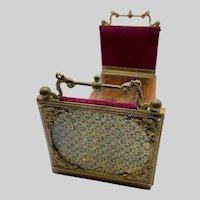 Outstanding Antique Alphonse GIROUX Bronze, Enamel & Wood Book Slide