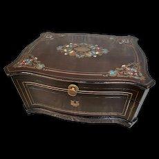 Lovely Large Antique Alphonse GIROUX Inlaid Casket
