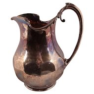 Important Southern Coin Silver Water Pitcher by James E. Spear, Charleston, South Carolina