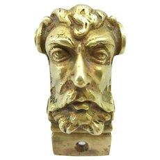 Very Fine set of Four Antique Ormolu Bronze Faun Heads