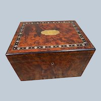 Lovely Antique Alphonse GIROUX Mother of Pearl Inlaid Desk Box