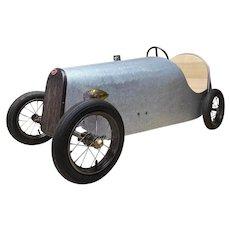 """RARE Antique """"BARN FIND"""" Bugatti Boat Tail Pedal Car c1920"""