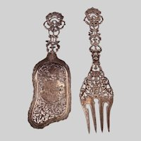 Museum Quality 1888 Dutch Sterling Silver Serving Set