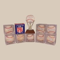 Amazing Collection of Historic AAGPBL Autographed Baseballs and Bat