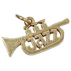 Rare James Avery Jazz Trumpet Charm 14K Gold, Retired