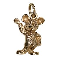 Mickey Mouse Vintage Charm 14K Gold, Walt Disney Productions