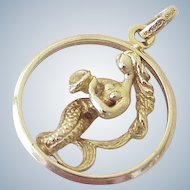 Boucherer Vintage MERMAID Charm / Pendant 18K Gold