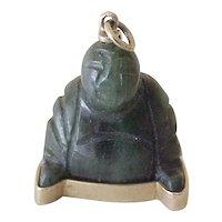 Vintage Buddha Charm 18K Gold & Jade, Egyptian circa 1950's