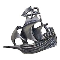 Sailing Ship Spanish Galleon Vintage Charm Sterling Silver by Beau