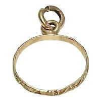 Vintage Baby Ring Charm 10K Gold circa 1950-60's
