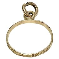 Vintage Baby Ring Charm 10K Gold circa 1950-60's
