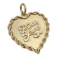 Big Heart Charm, Forever Yours 14K Gold circa 1961