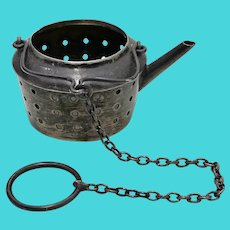 Sterling Silver Tea Kettle Figural Tea Ball