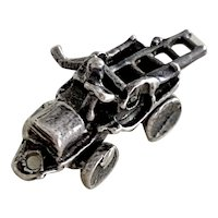 Moving Pedal Car / Fire Truck Vintage Charm Sterling Silver