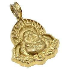 Big Laughing Buddha Vintage Pendant 24K Gold