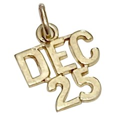 Special Date Charm Dec. 25, Christmas, Birthday 14K Gold