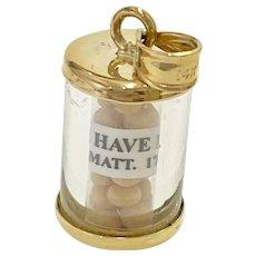 Faith Amulet / Mustard Seed 14K Gold Matthew 17:20
