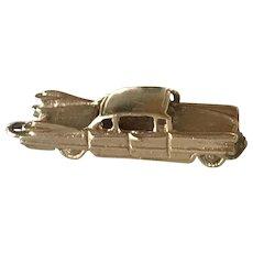 Cadillac 1959 Automobile Moving Charm 14K Gold Three-Dimensional