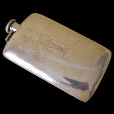 Large Sterling Silver Hip Flask, 5/8 Pint R. Blackinton & Co circa 1920's