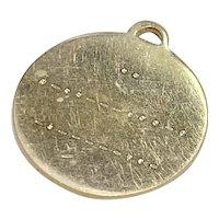 I Love You, Morse Code Vintage Romantic Charm 14K Gold