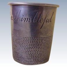 Sterling Silver Thimble Shot Glass ~ Just A Thimbleful
