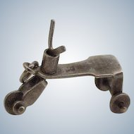 Vintage Moving Trike / Tricycle Charm Sterling Silver circa 1950's