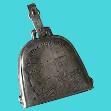 Little Boy Blue Rattle/Bell/Pendant Sterling Silver